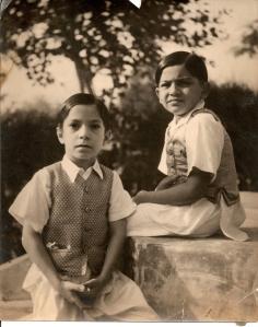 Kanak & Kishor at Bhavnagar 1937