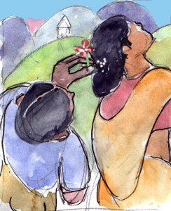 watercolor by Kishor Raval, 2008
