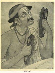 portrait of Narsinh Mehta by Ravishankar M Raval