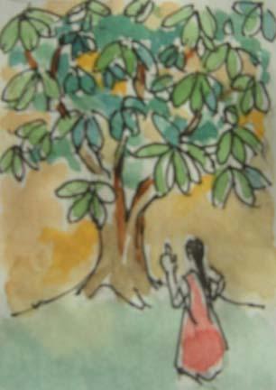 watercolor: Kishor Raval